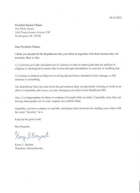 Letter4President
